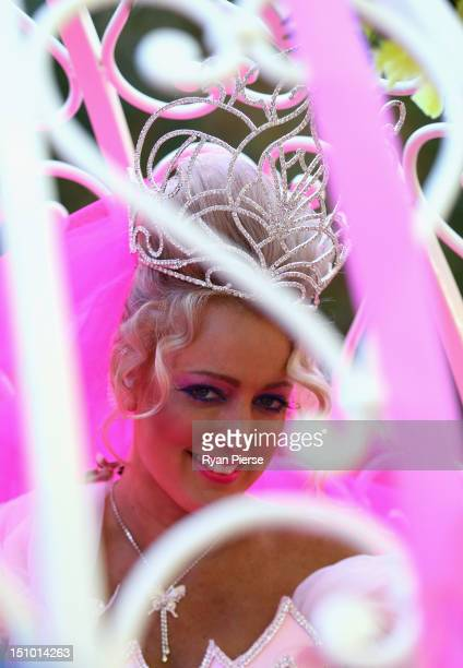 Jackie O poses at Kyle Jackie O's Big Fat Gypsy Wedding at Curzon Hall Marsfield on August 31 2012 in Sydney Australia