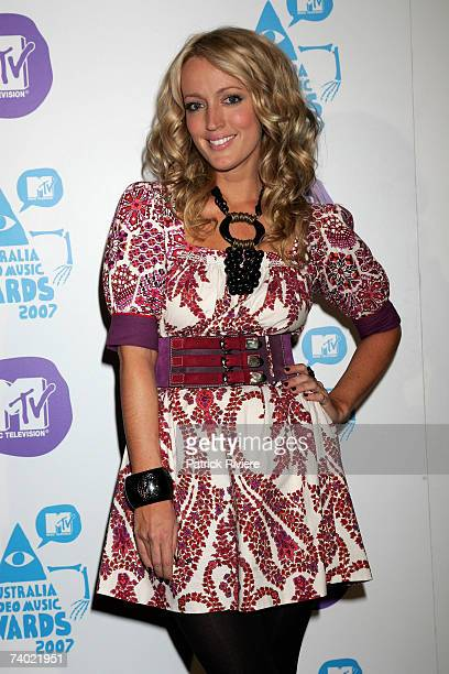 Jackie O poses backstage in the awards room at the third annual MTV Australia Video Music Awards 2007 at Acer Arena on April 29 2007 in Sydney...