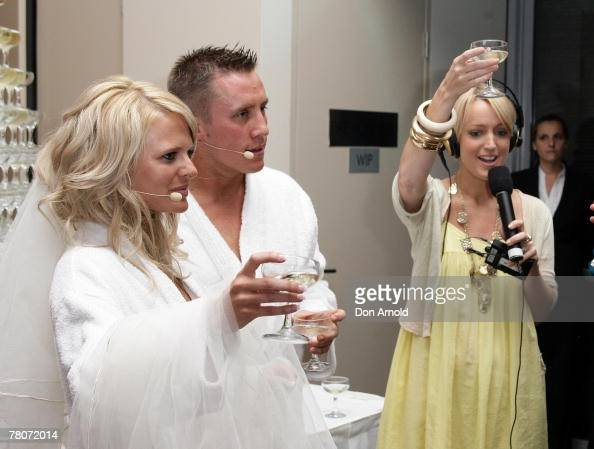 Jackie O Toasts 2Day Fm Listeners Grant Bulpett And Kelly Raymond At News Photo -5994