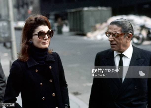 Jackie Onassis and Ari Onassis at the P.J. Clarke's in New York City, New York