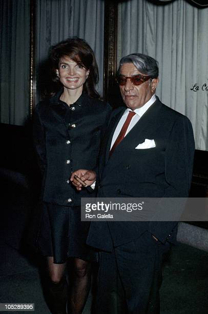 Jackie Onassis and Ari Onassis during Jackie Onassis and Ari Onassis Sighting At Le Cote Basque - October 6, 1969 at La Cote Basque Restaurant in New...