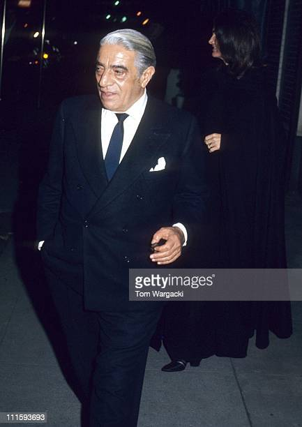 Jackie Onassis and Aristotle Onassis during Jackie Onassis Sighting December 9 1973 at 21 Club in New York City United States