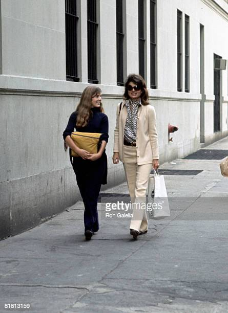 Jackie Onassis and Caroline Kennedy