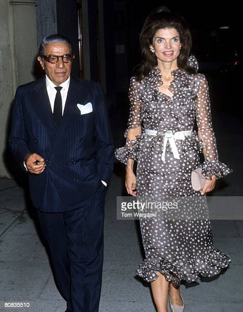 Jackie Onassis and husband Aristotle Onassis