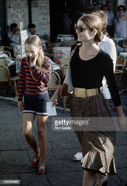 5aa522710a82 Jackie Onassis and Tina Radziwill during Jackie Kennedy and Family Shopping  in Capri August 24 1970