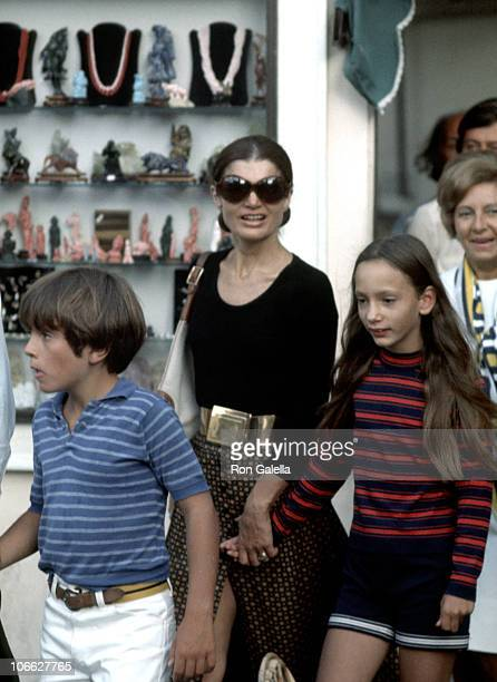 Jackie Onassis Anthony Radziwill and Tina Radziwill
