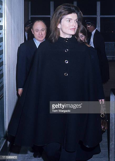 Jackie Onassis at JFK airport during Jackie Onassis Arrives at JFK Airport February 5 1972 in New York