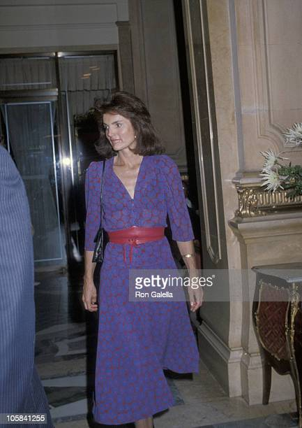 Jackie Onassis during Book Party for 'Call the Darkness Light' at Doubleday Book Store in New York City New York United States