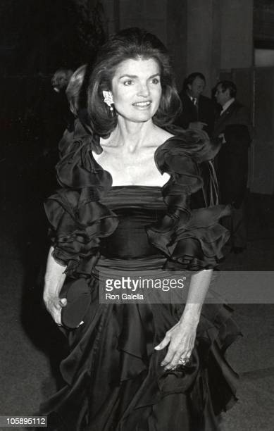 """Jackie Onassis during Costume Institute Gala Presents """"Fashions of The Hapsburg Era"""" at Metropolitan Museum of Art in New York City, New York, United..."""