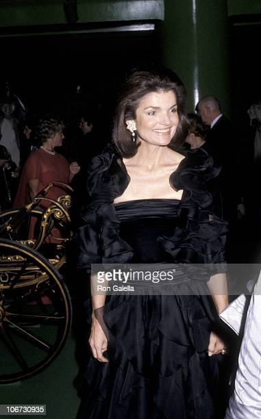Jackie Onassis during Costume Institute Gala Presents Fashions of The Hapsburg Era at Metropolitan Museum of Art in New York City New York United...