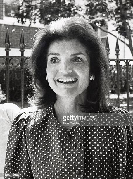 Jackie Onassis during Courtney Kennedy and Jeff Ruhe Wedding at Holy Trinity Church in Washington DC United States