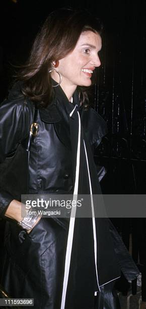 Jackie Onassis during Jackie Onassis Sighting December 9 1973 at 21 Club in New York City United States
