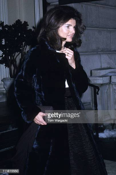 Jackie Onassis during Jackie Onassis Sighting in New York February 3 1972 at New York in New York United States