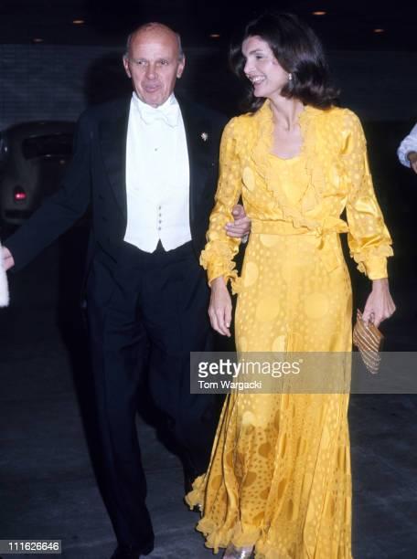 Jackie Onassis during Jacqueline Kennedy Onassis At Metropolitan Opera House at Metropolitan Opera House in New York United States