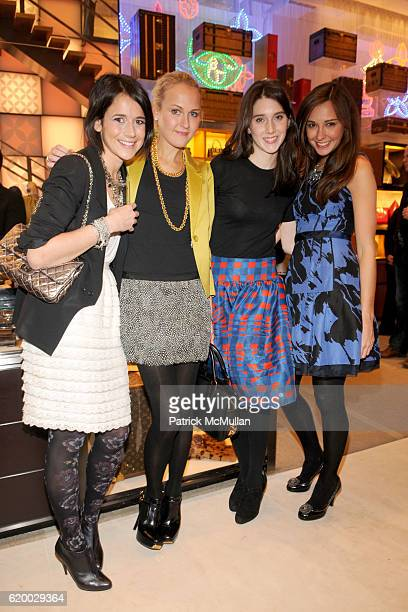 Jackie Randell Mary Kate Steinmiller Lauren McGrath and Lindsay Talbot attend LOUIS VUITTON TEEN VOGUE Holiday Celebration with AMY ASTLEY at Louis...