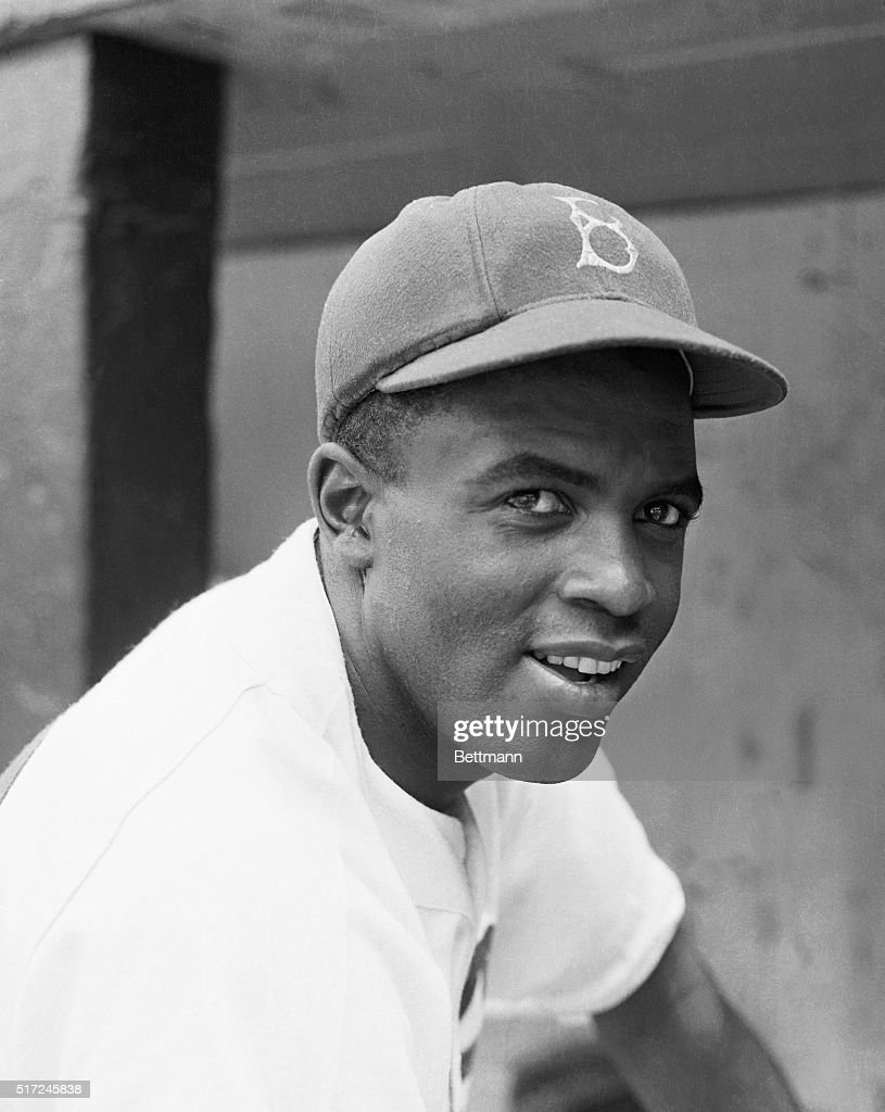 Jackie Robinson (1919-1972), Brooklyn Dodger from 1947-1956, the first black major league baseball player of the 20th century. He was entered into the Baseball Hall of Fame in 1962.