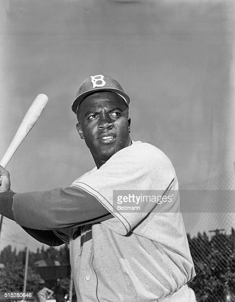 Jackie Robinson , Brooklyn Dodger from 1947-1956, the first black player in the major leagues of the 20th century. He made it into the Baseball Hall...