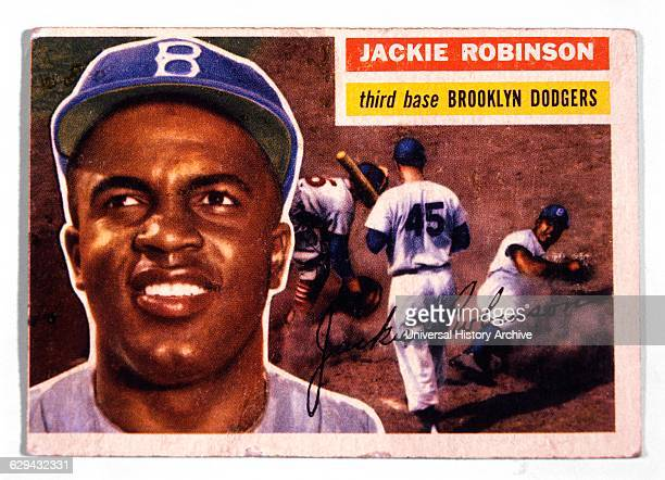 Jackie Robinson Brooklyn Dodgers Trade Card 1946