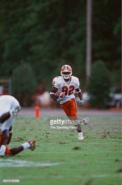 Jackie Robinson of the Clemson Tigers runs with the ball against the Duke Blue Devils on September 30 2000