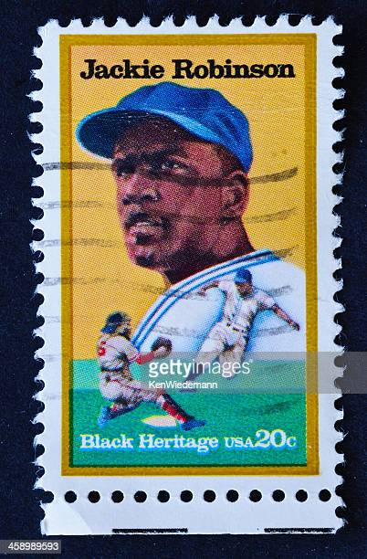 jackie robinson stamp - black civil rights stock pictures, royalty-free photos & images