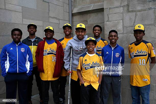Jackie Robinson West Little League team players from left Josh Houston Pierce Jones Marquis Jackson Tré Hondras Prentiss Luster DJ Butler Lawrence...