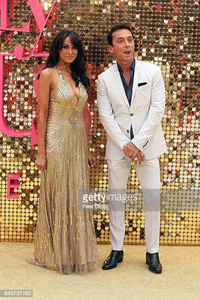 Jackie Saint Clair and Bruno Tonioli attend the World Premiere of Absolutely Fabulous at Odeon Leicester Square on June 29 2016 in London England