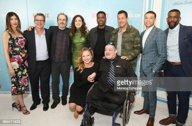 Jackie Sandler Allen Covert Robert Smigel Allison Strong Chris Rock Adam Sandler Roland Buck III Chuck Nice and Jim Barone attend the World Premiere...