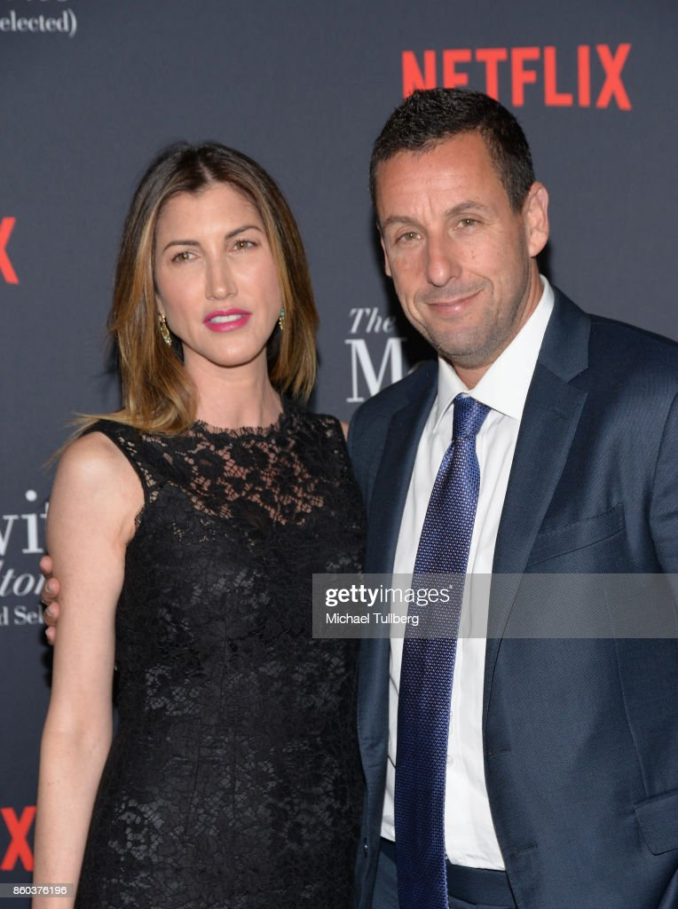 Jackie Sandler and actor Adam Sandler attend a screening of Netflix's 'The Meyerowitz Stories (New and Selected)' at Directors Guild Of America on October 11, 2017 in Los Angeles, California.