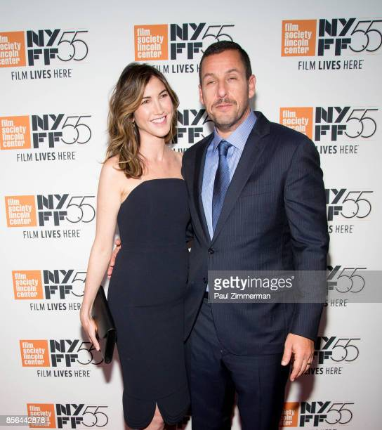 Jackie Sandler and actor Adam Sandler attend the 55th New York Film Festival screening of Meyerowitz Stories at Alice Tully Hall on October 1 2017 in...