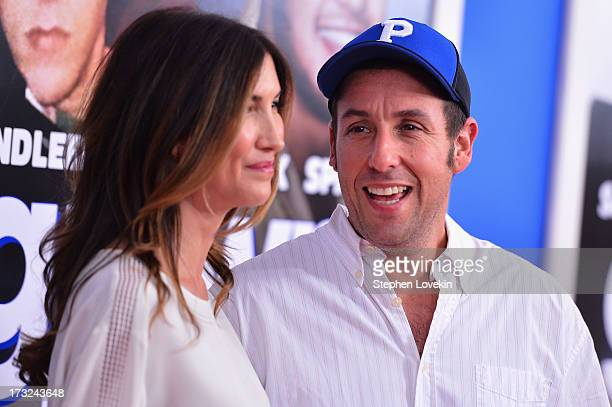 Jackie Sandler and actor Adam Sandler attend the 'Grown Ups 2' New York Premiere at AMC Lincoln Square Theater on July 10 2013 in New York City