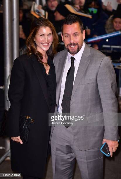 Jackie Sandler and Adam Sandler arrive to the 2020 National Board Of Review Gala at Cipriani 42nd Street on January 8 2020 in New York City