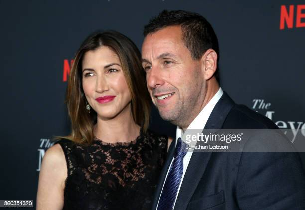 Jackie Sandler and Adam Sandler at a special screening of The Meyerowitz Stories at DGA Theater on October 11 2017 in Los Angeles California