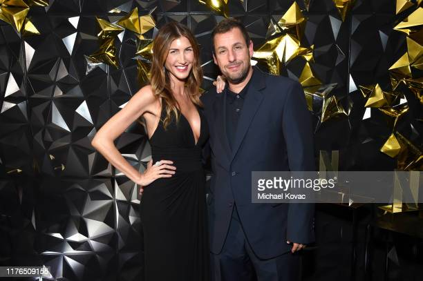 Jackie Sandler and Adam Sandler attend the 2019 Netflix Primetime Emmy Awards After Party at Milk Studios on September 22 2019 in Los Angeles...