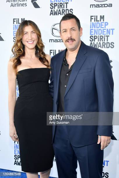 Jackie Sandler and Adam Sandler attend the 2020 Film Independent Spirit Awards on February 08 2020 in Santa Monica California