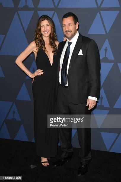Jackie Sandler and Adam Sandler attend the Academy Of Motion Picture Arts And Sciences' 11th Annual Governors Awards at The Ray Dolby Ballroom at...