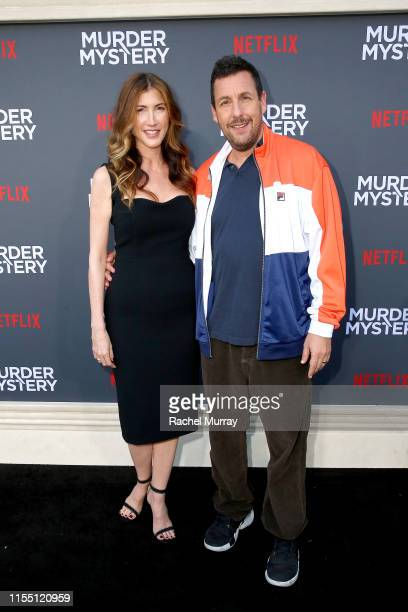Jackie Sandler and Adam Sandler attend the Netflix World Premiere Of Murder Mystery at Village Theatre Westwood on June 10 2019 in Los Angeles...