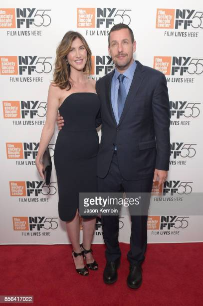 Jackie Sandler and Adam Sandler attend the New York Film Festival premiere of The Meyerowitz Stories at Alice Tully Hall on October 1 2017 in New...