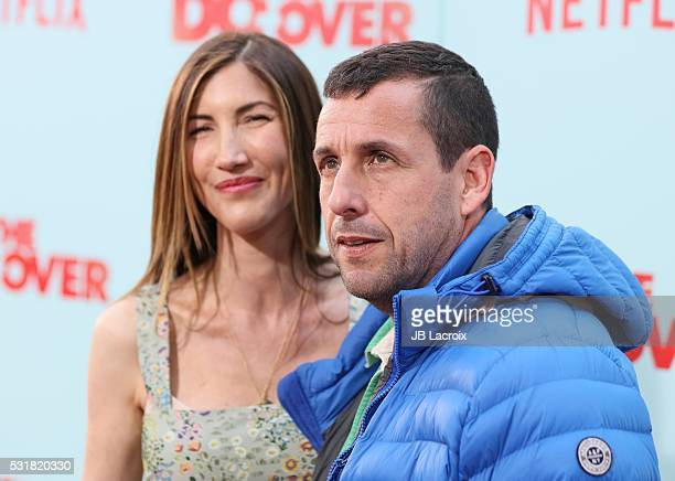 Jackie Sandler and Adam Sandler attend the premiere of Netflix's 'The Do Over' at Regal LA Live Stadium 14 on May 16 2016 in Los Angeles California