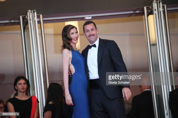 Jackie Sandler and Adam Sandler attend the The Meyerowitz Stories screening during the 70th annual Cannes Film Festival at Palais des Festivals on...