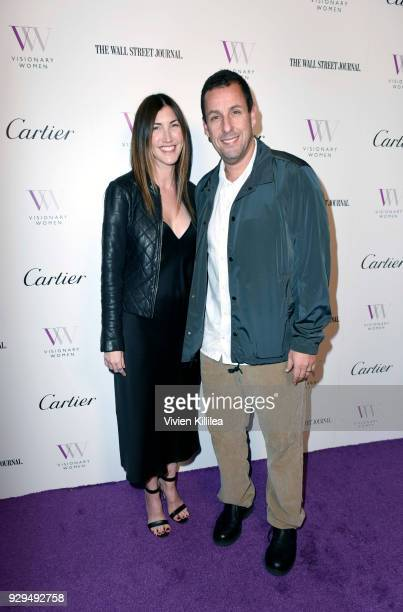 Jackie Sandler and Adam Sandler attend Visionary Women Honors Demi Moore in Celebration of International Women's Day on March 8 2018 in Beverly Hills...