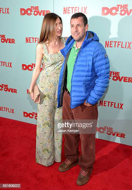 Jackie Sandler and comedian Adam Sandler attend the premiere of Netflix's 'The Do Over' at Regal LA Live Stadium 14 on May 16 2016 in Los Angeles...