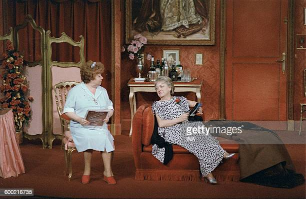 "Jackie Sardou and Jacqueline Maillan in ""Féfé of Broadway""."