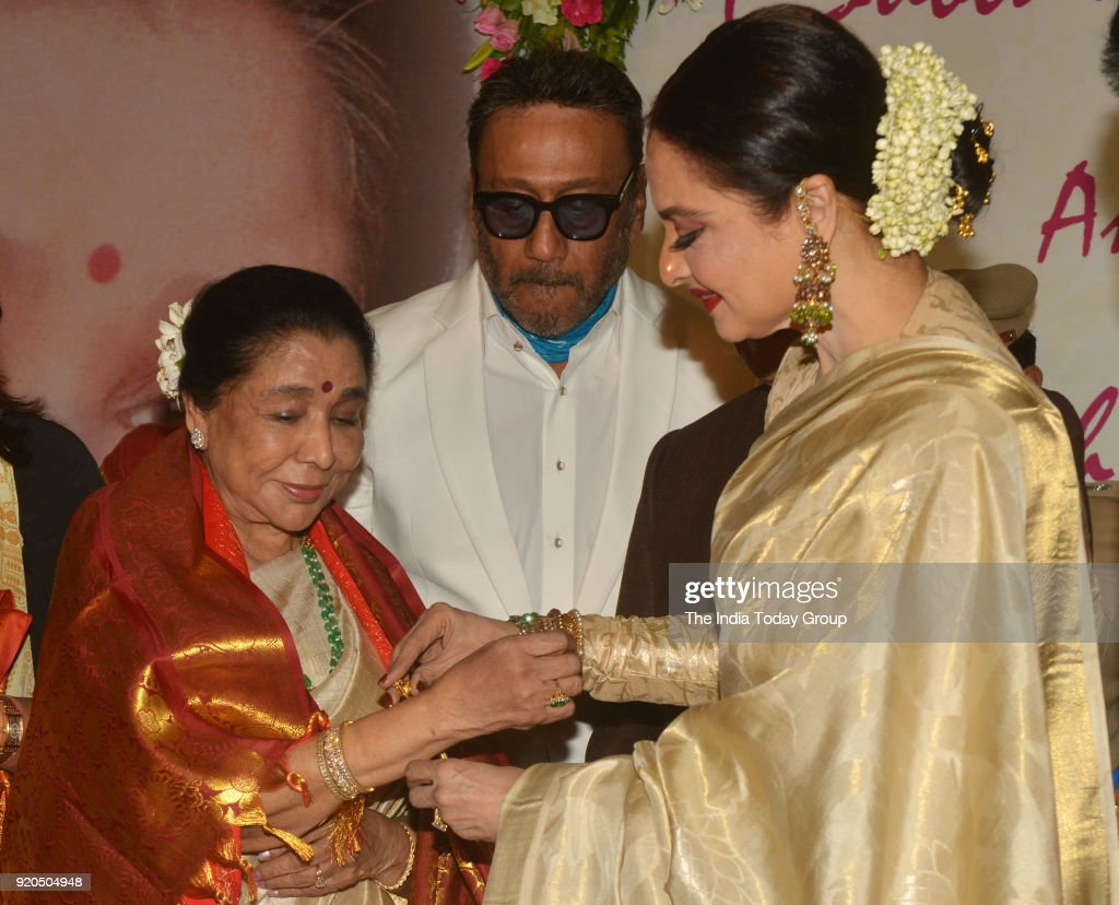 Jackie Shroff Rekha and Asha Bhosle at the Yash Chopra Memorial Award 2018 in Mumbai