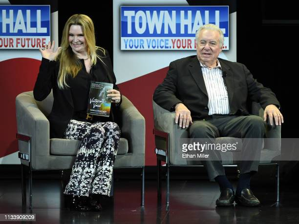 Jackie Siegel and Westgate Resorts Founder and CEO David Siegel participate in a town hall meeting on the opioid crisis as part of first lady Melania...