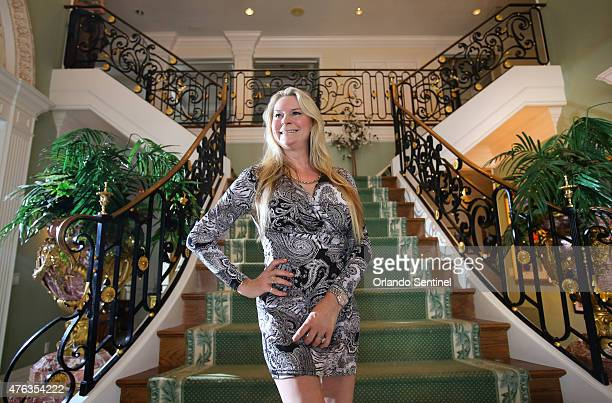 Jackie Siegel wife of Westgate Resorts founder CEO David Siegel and the star of the 2012 documentary 'Queen of Versailles' poses for a portrait at...