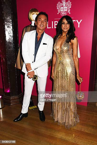 Jackie St Clair and Bruno Tonioli attend the after party of the world premiere of 'Absolutely Fabulous The Movie' at Liberty on June 29 2016 in...