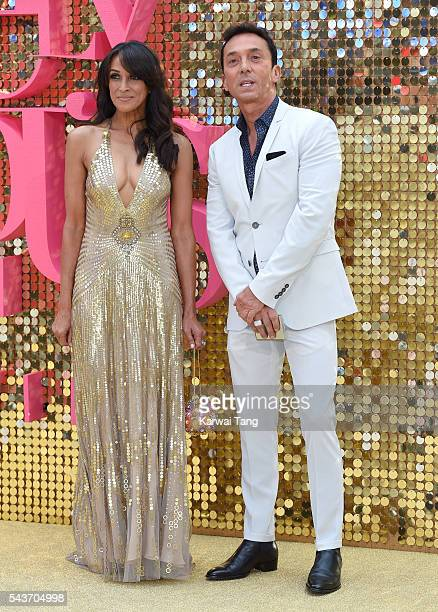 Jackie St Clair and Bruno Tonioli attend the World Premiere of Absolutely Fabulous The Movie at Odeon Leicester Square on June 29 2016 in London...