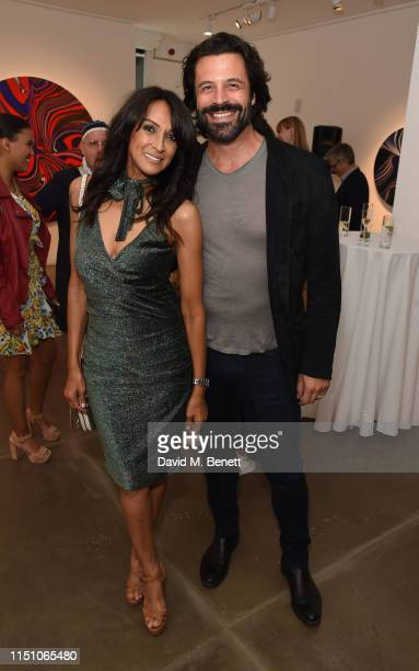 Jackie St Clair and Christian Vit attend as JD Malat Gallery celebrate their 1st Anniversary and the private view of their new exhibition 'Echoes of...