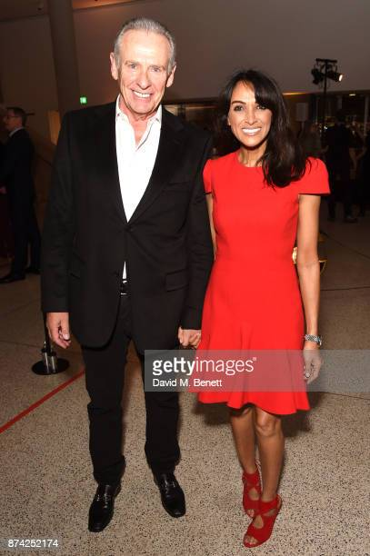 Jackie St Clair and guest attend a private view of the 'Ferrari Under The Skin' exhibition hosted by Deyan Sudjic and Alice Black Directors of the...