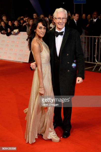 Jackie St Clair and Paul O'Grady attend the National Television Awards 2018 at The O2 Arena on January 23 2018 in London England
